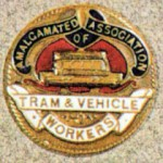Amalagamated Association of Tramway and Vehicle Workers badge