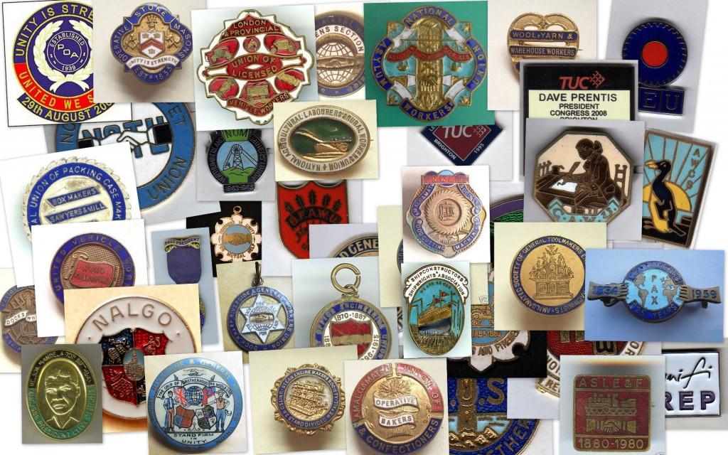 trade union badges