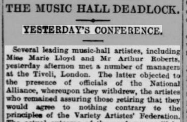 music hall strike report